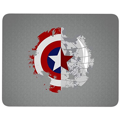 The First Avenger Premium-Textured Mouse pad, Captain America's Shield Mouse Pad for Home, Office, Game, Computer, Laptop (Mouse Pad - Dark Gray)