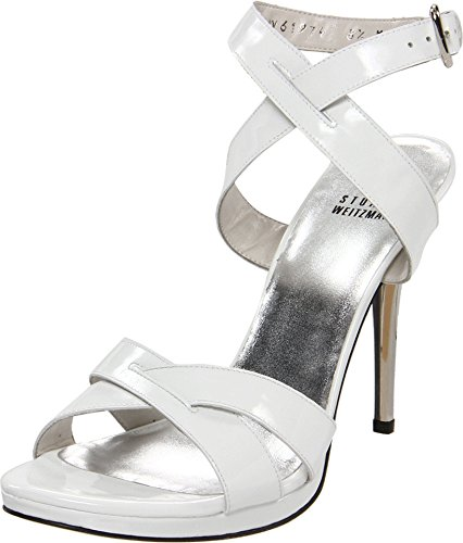 Stuart Weitzman Women's $412 White Thruway Strappy High Heel Platform Sandals SZ 11 New