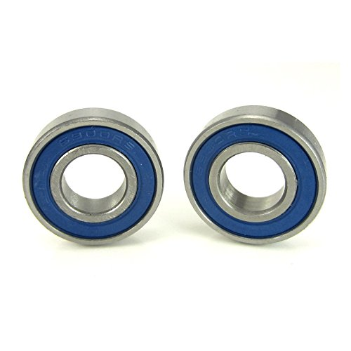 10x22x6mm Precision Ball Bearings ABEC 3 Blue Rubber Seals (2)