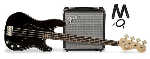 squier-by-fender-pj-electric-bass-guitar-beginner-pack-with-rumble-15-amplifier-black-finish
