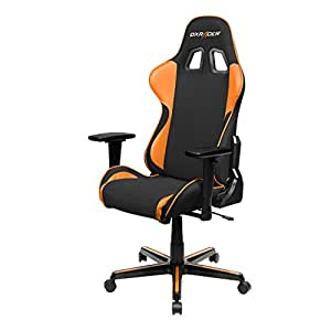 DXRacer FH11/NO Black Orange Formula Series Racing Bucket Seat Office Chair Gaming Ergonomic with Lumbar Support