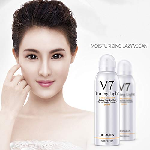 Whitening Face Spray, Luckyfine Skin Whitening Moisturizing Hyaluronate Vitamins Brighten Face Body Concealer, Making Your Skin Soft and Silky, Brighten Your Skin Tone, Apply All Over Body - 250 ml