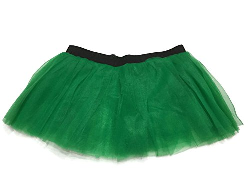 Cupid Dance Costume (Rush Dance Running Skirt Teen or Adult Princess Costume Runners Rave Race Tutu (Kelly Green))