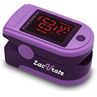 Zacurate® Pro Series 500DL Fingertip Pulse Oximeter Blood Oxygen Saturation Monitor with Silicon Cover, Batteries and Lanyard