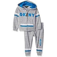 DKNY Baby Boys 5th Avenue Straited Fleece Hoody Jog Pant