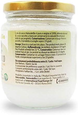 Aceite de coco extra virgen 200 ml - Crudo y prensado en frío ...