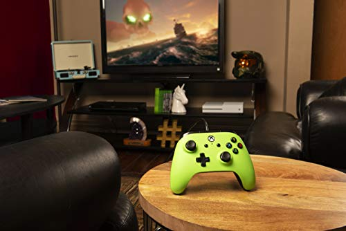 Enhanced Wired Controller for Xbox One - Green, gamepad, wired video game controller, gaming controller, Xbox One, works with Xbox Series X|S