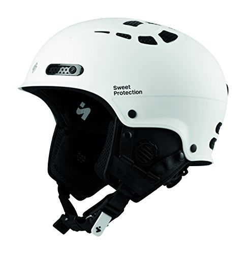 Sled Slalom (Sweet Protection Igniter II Helmet, Satin White, Small/Medium)