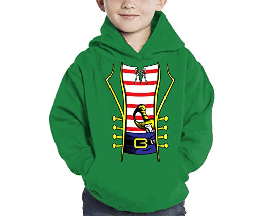 HAASE UNLIMITED Pirate Costume Hoodie Sweatshirt (Kelly Green, 4T) ()