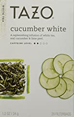 Tazo All Natural Cucumber White Tea Is A Replenishing Blend Of Delicate White Tea, Real Cucumber And Lime Peel. Tazo All Natural Cucumber White Tea Contains Antioxidants Within. Tazo Is An Enticing Source Of Wonder, Inspiration And Antioxidan...