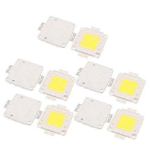 DealMux 10Pcs 27-30V 50W LED Chip Bulb White Ultra Bright High Power for Floodlight