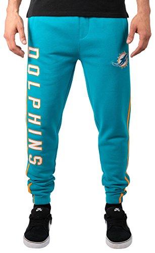 Dolphins Colors Miami (NFL Miami Dolphins Men's Jogger Pants Varsity Stripe Fleece Sweatpants, Small, Blue)