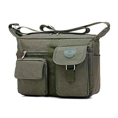 Women's Shoulder Bags Casual Handbag Travel Bag Messenger Cross Body Nylon Bags Green