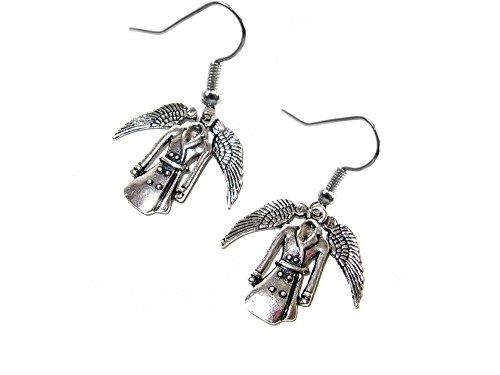 Supernatural Castiel's Coat Dangle Earrings Gift Box
