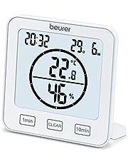 Beurer HM 22 thermo-hygrometer, kamerklimaatregeling, meting van temperatuur en relatieve luchtvochtigheid, met timer en signaaltoon