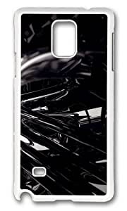 Adorable 3D Black 3 Hard Case Protective Shell Cell Phone Ipod Touch 4 - PC White