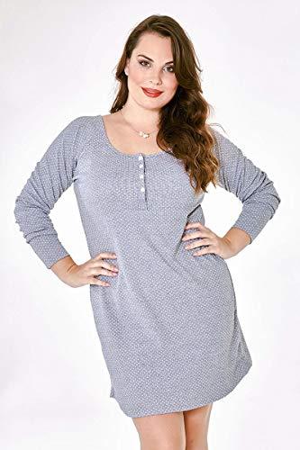Camisola maternidade manga longa camisão