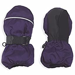 Purple Easy-On Insulated Snoball Mittens, Medium, 3-5 Years Old, by Cozy Cub