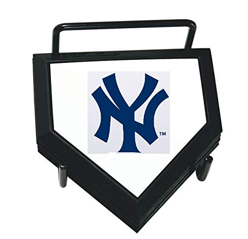 (MLB New York Yankees Home Plate 4-pack Coaster Set)