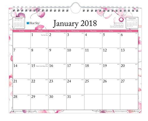 Blue Sky 2018 Monthly Wall Calendar, Twin-Wire Binding, 1...