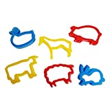 plastic animal cookie cutter set - TOYMYTOY 6pcs Farm Animal Cookie Cutter Set for Kids (Random Color)