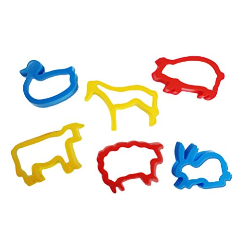 TOYMYTOY 6pcs Farm Animal Cookie Cutter Set for Kids (Random Color) ()