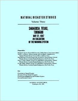 Book Saragosa, Texas, Tornado May 22, 1987:: An Evaluation of the Warning System (Natural Disaster Studies) by Division of Natural Hazard Mitigation (1991-01-01)