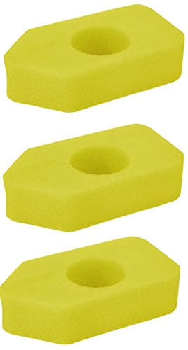 PODOY New Pack of 3 Foam Air Filter for Briggs & Stratton 698369 4216 5088 5099 Replace MTD 490-200-0011