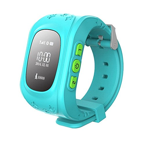 Q50 Kids 2G GSM Unlocked Smartwatch with GPS Tracking Pedometer, Sleep Monitor Alarm, Geofencing, SOS Alarm and Find Watch Feature Christmas gift (blue)