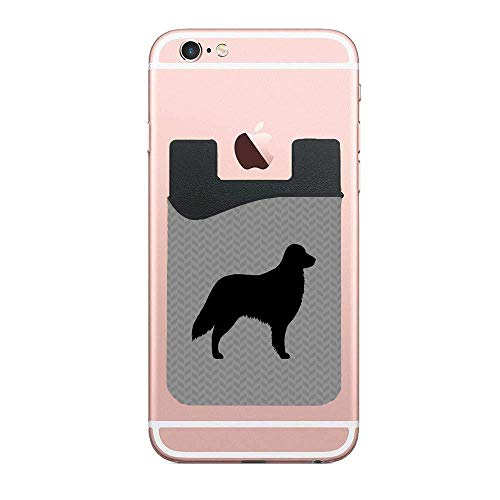 - Flat Coated Retriever Silhouette Phone Card Wallet - Slim Adhesive Credit Card Holder Card Sleeves Phone Wallet Sticker for All Smartphones
