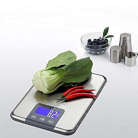 LOLIVEVE 15Kg 1G Báscula De Cocina Digital De Alta Precisión Balanza Báscula De Cocina De Acero Inoxidable Ultrafino Escala Electrónica Digital: Amazon.es: ...