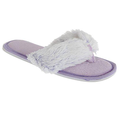 Voor Altijd Dromende Dames Traagschuim Flip-flop Slippers Paars