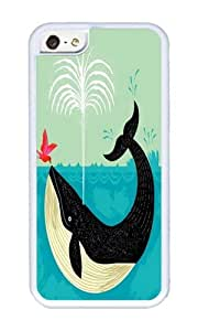 Apple Iphone 5C Case,WENJORS Uncommon The Bird and The Whale Soft Case Protective Shell Cell Phone Cover For Apple Iphone 5C - TPU White
