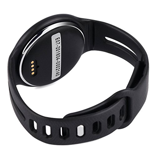 New Design Smart Wristband Waterproof Bluetooth OLED Display Smartwatch Smart Bracelet With Pedometer SMS Reminder Sleep Fitness Activity Calorie Tracker Watch For Android and IOS (Black)