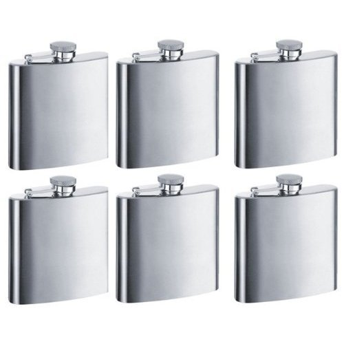 Gifts Infinity® 8oz Hip Stainless Flask Set of 6
