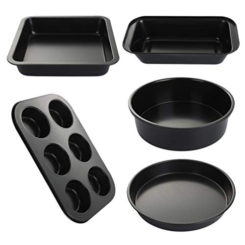 Cabilock Antiaanbak-bakset, koolstofstaal, bakvorm, bakvorm, bakvorm, pizzavorm, toast box voor in de keuken thuis