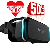Pansonite Premium 3D VR Glasses with Adjustable Lenses & Head Strap,...