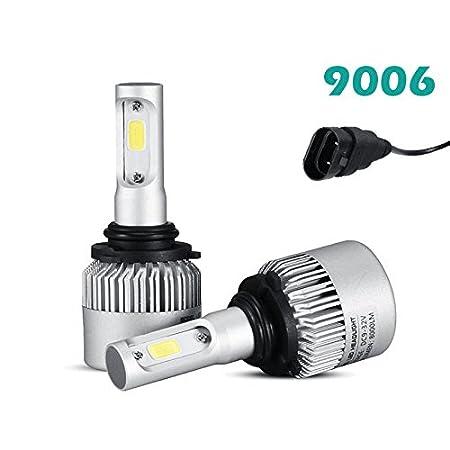Premium Super Bright H4 LED Car Headlight Bulbs 8000lm COB Chip Auto LED Light Conversion Kit Replaces Halogen Lights or HID Bulbs