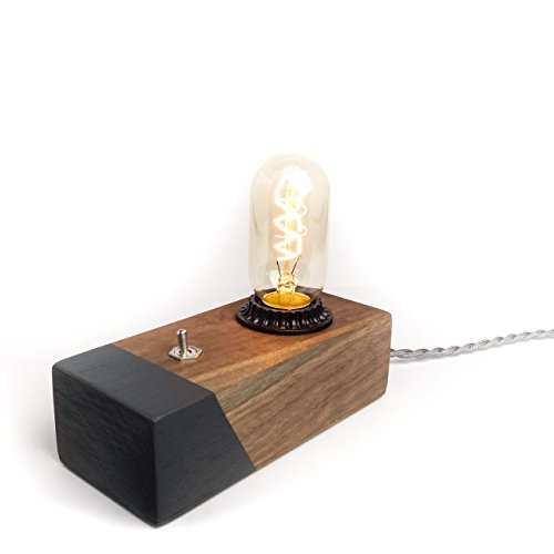 Black Walnut Desktop Edison Lamp / Grey Contrast 41sSW2GA3gL