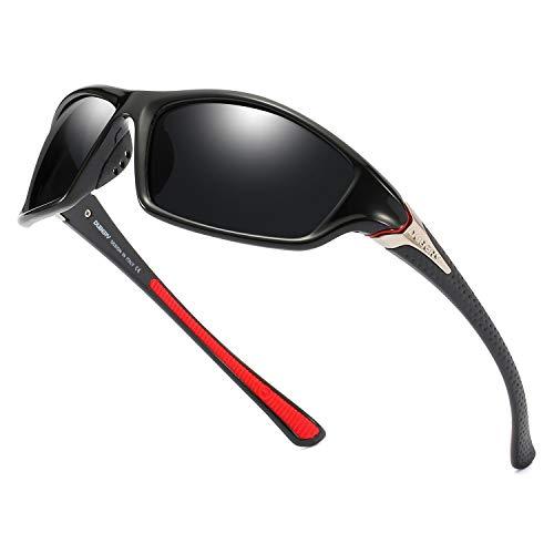 - DUBERY Polarized Fishing Sunglasses for Men Women Ultra Light Outdoor Sports Driving Sunglasses UV400 Protection D120(Black/Black)