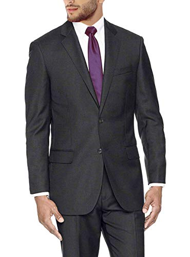 GN GIORGIO NAPOLI Presidential Men's 2 Button Suit Separate Coat Blazer (40 Short US / 50 Short EU, Charcoal)