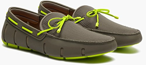 SWIMS Mens Braided Lace Loafer Khaki/Green Size 11 by SWIMS