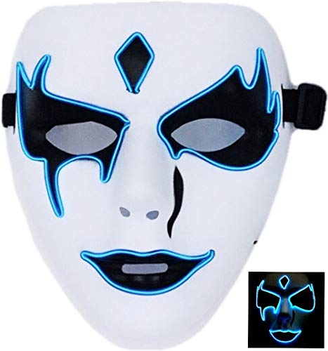 Circle Circle El Wire Glowing LED Halloween Masks (Blue 1) -