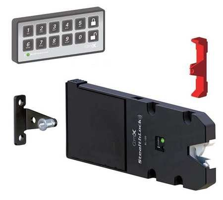 Electronic Cabinet Lock, Black, 12 Button
