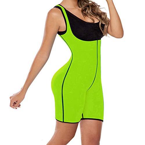 YANBAA Waist Trainer Neoprene Body Shaper Cincher Bodysuit Slimming Shapewear Green