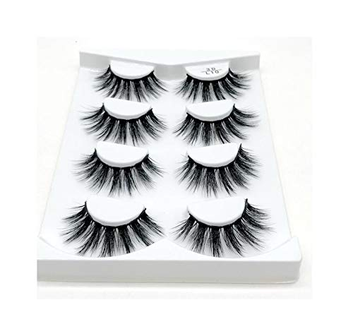 (All About Sex 2/4 pairs natural false eyelashes fake lashes long makeup 3d mink lashes eyelash extension mink eyelashes for beauty,L10)