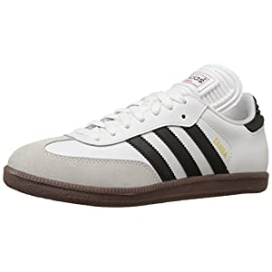 adidas Men's Samba Classic Soccer Shoe,Run White/Black/Run White,10 M US