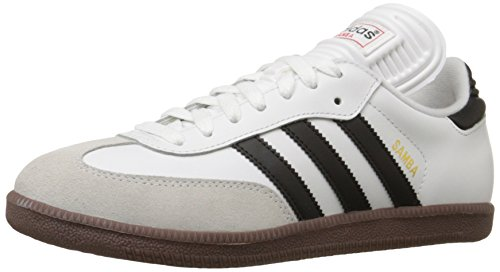 (adidas Men's Samba Classic Soccer Shoe,Run White/Black/Run White,7 M)