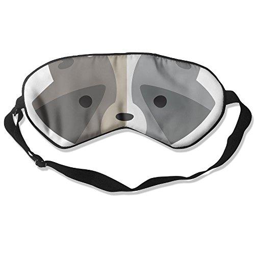 WUGOU Sleep Eye Mask Little Raccoon Lightweight Soft Blindfold Adjustable Head Strap Eyeshade Travel Eyepatch -