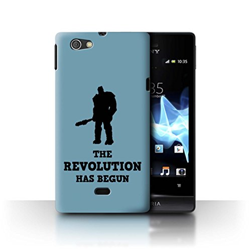STUFF4 Phone Case/Cover for Sony Xperia Miro/ST23I/Revolution Ragnarok Art Design/Funny Korg Quotes Collection